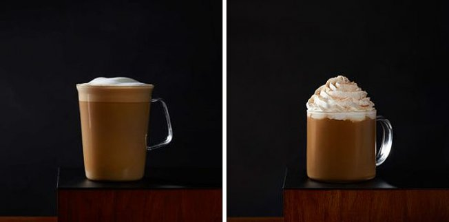 Калорийность Latte от Starbucks