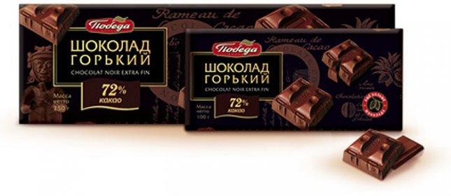 Шоколад горький Победа