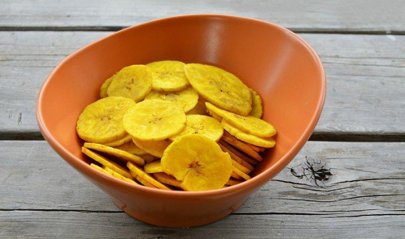 Калорийность банановых чипсов